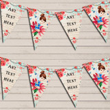 Vintage Shabby Chic Floral Fairy Christening Bunting