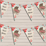 Vintage Shabby Chic Floral Rustic Baby Pram Christening Bunting