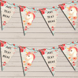 Vintage Shabby Chic Floral Unicorn Christening Bunting