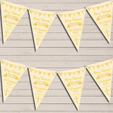 Yellow Watercolour Banner Christening Day Christening Bunting