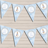 Baby Blue Peter Rabbit Christening Bunting