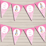 Baby Pink Peter Rabbit Marble Christening Bunting
