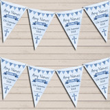Blue Boys Watercolour Banner Christening Day Christening Bunting
