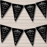 Vintage Regal Engagement Black And White Engagement Party Bunting