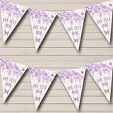 Shabby Chic Vintage Wood Lilac Engagement Party Bunting
