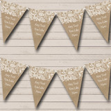 Burlap And Lace Engagement Party Bunting