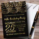 Gold Draped Garland 16th Customised Birthday Party Invitations