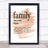 Word Definition Family Quote Print Watercolour Wall Art