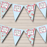 Blue Shabby Chic Floral Hen Do Night Party Bunting