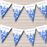 Blue Princess Crown Hen Do Night Party Bunting