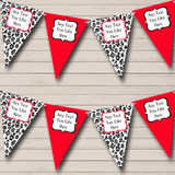 Black White & Red Animal Print Hen Do Night Party Bunting