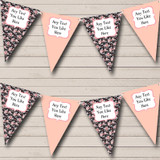 Black Vintage Floral Shabby Chic Hen Do Night Party Bunting