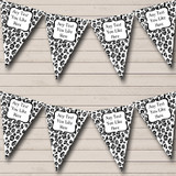 Black & White Leopard Print Hen Do Night Party Bunting