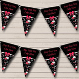 Black & Pink Shabby Chic Vintage Hen Do Night Party Bunting