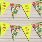 Tropical Floral Hawaiian Beach Party Luau Floral Hen Do Party Bunting