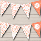 Shabby Chic Coral Nautical Sailing Beach Seaside Themed Bunting