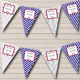 Red Blue & White Boat Nautical Sailing Beach Seaside Themed Bunting
