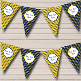 Navy Blue And Yellow Nautical Sailing Beach Seaside Themed Bunting