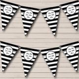 Black & White Stripes Nautical Sailing Beach Seaside Bunting