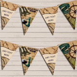 Vintage Nautical Land & Sea Party Bunting
