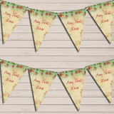 Shabby Chic Floral Vintage Green Red Wedding Day Bunting