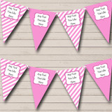 Pink And White Stripes Welcome Home New Baby Bunting