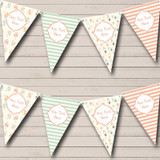 Neutral Nappy Pins Dummies Stripes Welcome Home New Baby Bunting