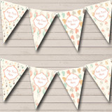 Neutral Balloons Nappy Pins Welcome Home New Baby Bunting