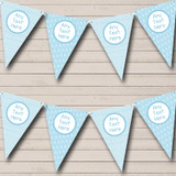 Nappy Pins Blue Welcome Home New Baby Bunting