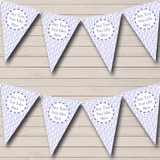 Lilac Birds Welcome Home New Baby Bunting