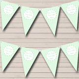 Green Love Hearts Welcome Home New Baby Bunting