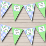 Green & Blue Gingham And Polka Dot Welcome Home New Baby Bunting