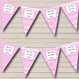 Girl Pink Footprints Welcome Home New Baby Bunting