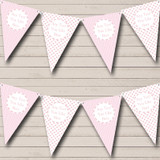 Girl Pink Dots And Stripes Welcome Home New Baby Bunting