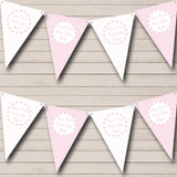 Girl Pink And White Welcome Home New Baby Bunting