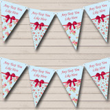 Floral Vintage Shabby Chic Welcome Home New Baby Bunting