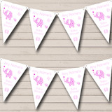 Cute Elephants Girl Pink Welcome Home New Baby Bunting