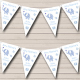 Cute Elephants Boy Blue Welcome Home New Baby Bunting