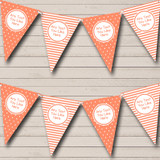 Coral Polkadot And Stripes Welcome Home New Baby Bunting