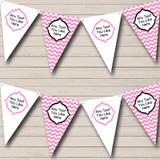 Chevron Stripes Pink And White Welcome Home New Baby Bunting