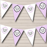 Chevron Stripes Lilac Welcome Home New Baby Bunting