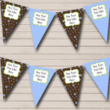 Brown Blue Shabby Chic Welcome Home New Baby Bunting