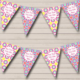 Bright Pink Yellow Blue Flower Welcome Home New Baby Bunting