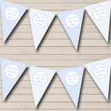 Boy Blue Stripes Dots Welcome Home New Baby Bunting