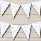 Boy Blue Stripes Chain Welcome Home New Baby Bunting