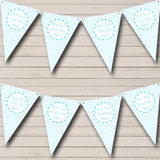 Boy Blue Love Hearts Welcome Home New Baby Bunting