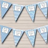 Boy Blue Footprints Welcome Home New Baby Bunting