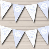 Boy Blue Check Flowers Welcome Home New Baby Bunting