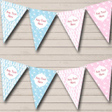 Blue Pink Boy And Girl Welcome Home New Baby Bunting
