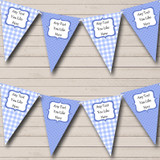 Blue Gingham And Polka Dot Welcome Home New Baby Bunting